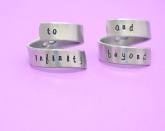 To Infinity and Beyond Wrap Ring Set