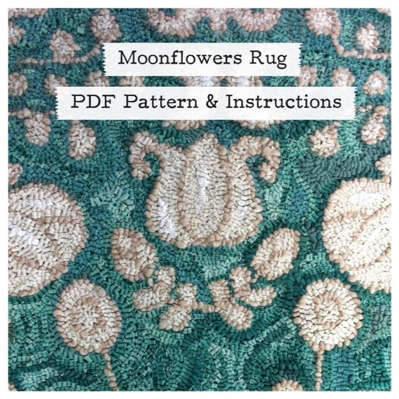 Moonflowers Rug PDF Pattern and Instructions