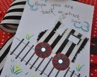 Get Well Greeting Card Hope You Are Back On Track Soon