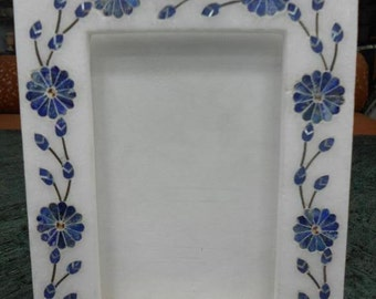 Marble inlay Photo frame / stone inlaid photo frames