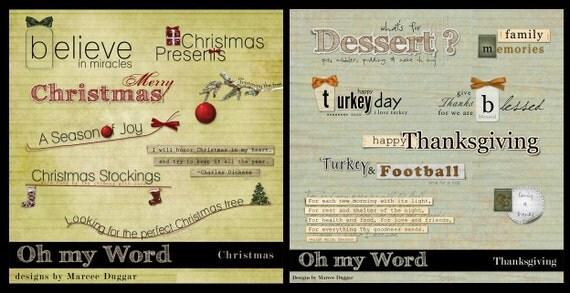 oh My Word Holidays Word Art