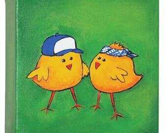 Trucker chicks painting