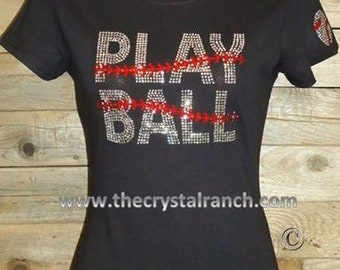 Play Ball Rhinestone Tee TS239