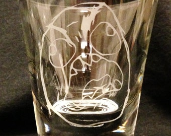 Rage Face Meme Custom Etched Shot Glass