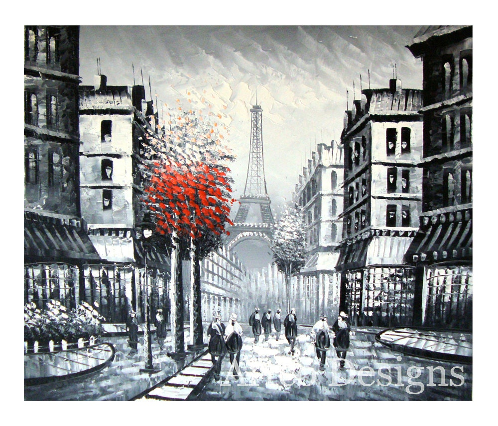 Sale black and white city painting black and white urban for White and black paintings