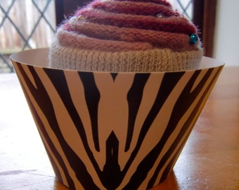 Zebra print cupcake wrappers, standard size