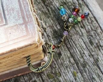 Bronze Metal Beaded Bookmark