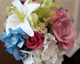 Wedding silk flower bouquet