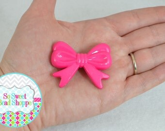 46mm Acrylic Bow Beads, 2ct, Hot Pink