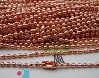 SALE--10 pcs Rose Gold Chain Necklaces - 27inch, 2.0 mm