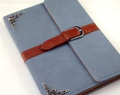 iPad case, Antique silver Filigree case, gray leather leather ipad mini case,ipad 2/3/4 case cover Bag,ipad air case, Sleeve