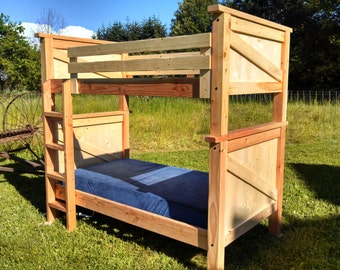 Loft bed etsy for Stackable bed plans