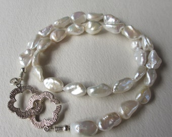 Baroque Keshi Pearl Necklace with C-Clasp