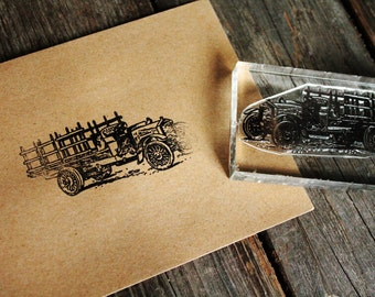 Old Truck Stamp - Southern Rubber Stamp - Old Pickup Truck Rubber Stamp