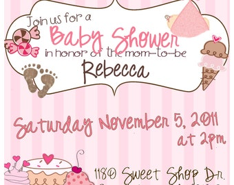 Sweet Shoppe Babyshower Invite