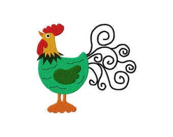 INSTANT DOWNLOAD Rooster Machine Embroidery Design