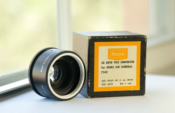 Sears Auto 3X Converter For M42 Screw Mount  - Vintage camera lens - Film photography