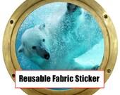Huge 19 inch Hanmade Polar Bear Mommy REMOVABLE REUSEABLE Canvas