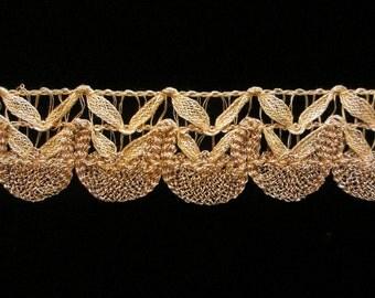 "569 Metallic lace trim - ""Baroque"" 1-1/4"" (32mm)"