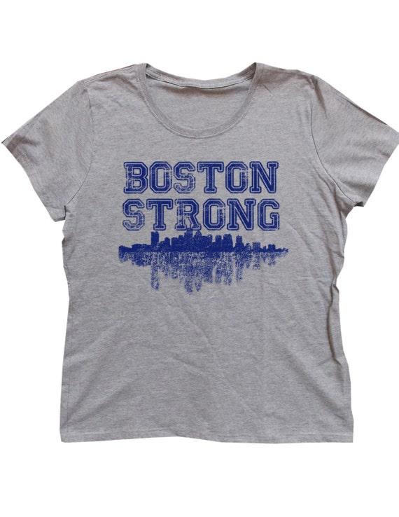 Ladies distressed boston strong t shirt for Boston strong marathon t shirts