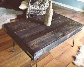 Industrial Stained Reclaimed Wood Coffee Table
