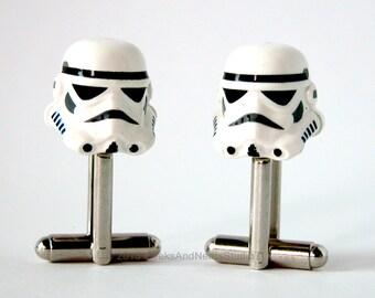 Stormtrooper Cufflinks - LEGO Star Wars Wedding - Groomsmen Gift - Mens Cufflinks - Gift for HIm - Best Man Gift - Geek Jewelry Cufflinks