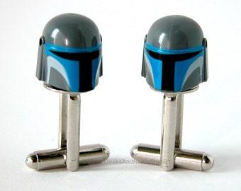 LEGO Star Wars Mandalorian Cufflinks - Wedding Cufflinks - Geek Cufflinks - Mens Cufflinks - Groomsmen Gift - Gift for HIm - Father's day