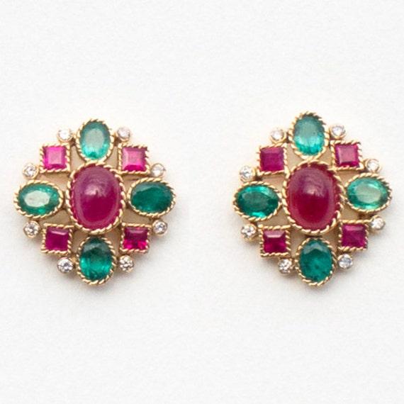 Emblem Earrings, 14.5 x 14.5 mm
