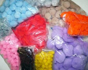 10 assorted pom pom bags