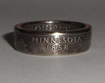 MINNESOTA   us quarter  coin ring size  or pendant