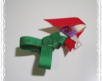 Princess (Ariel) Ribbon Sculpture Alligator Hairclip (Children/ Girls/ Handmade Accessories)
