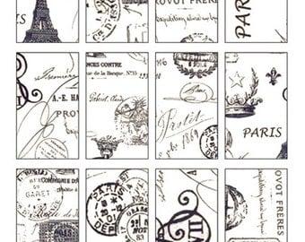 French Ephemera Collage Sheet  No.2599