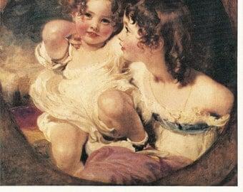 Collectors Vintage Art  Postcard - THOMAS LAWRENCE - The Calmady Children
