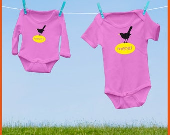 Blackbird! Personalized onesie with blackbird (and the name of the baby)