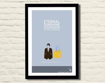 Eternal Sunshine of the Spotless Mind Movie Poster Art Print 11 X 17, Modern Poster, Home Decor