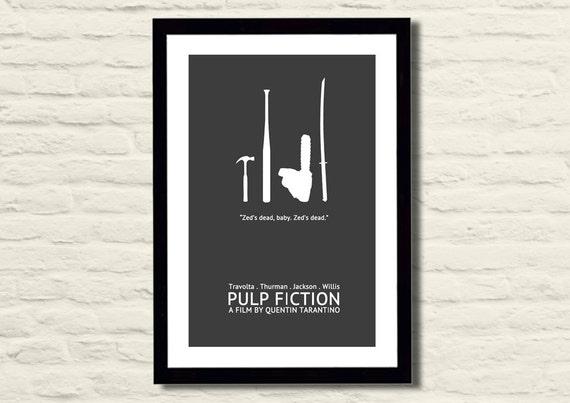 Pulp Fiction Movie Poster Art Print 11 X 17 Modern Poster