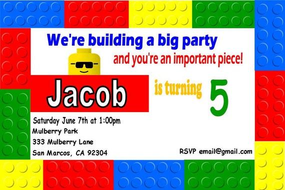 Lego Bday Invitations is amazing invitation layout