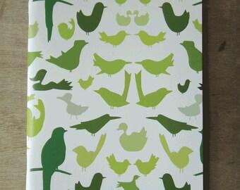 Set of 3 Illustrated Notebooks: Birds