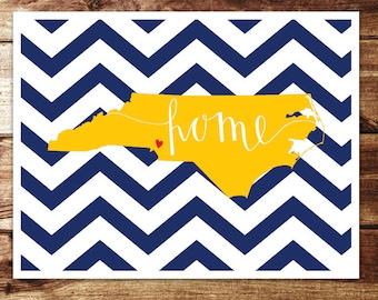 North Carolina: Home Print