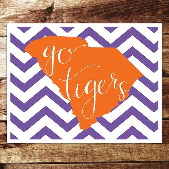 Print Clemson: Tigers Go