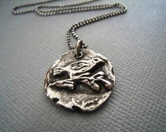Sparrow Bird Necklace