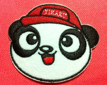 Cutie Panda Head (6 x 5.5 cm) Embroidered Iron on Applique Patch (R)