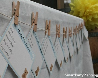 Boy Baby Shower Baby Prediction Cards - Smart Party Planning
