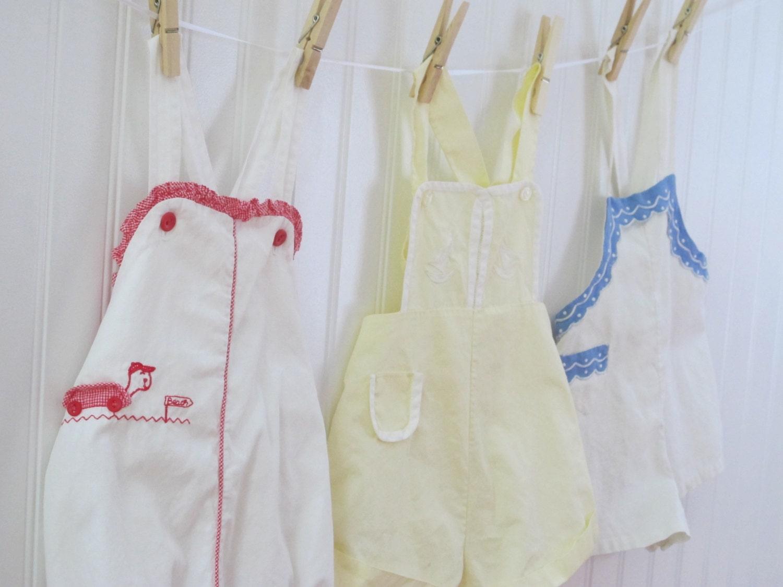 vintage baby clothes boy yellow by myvintagebabyfair