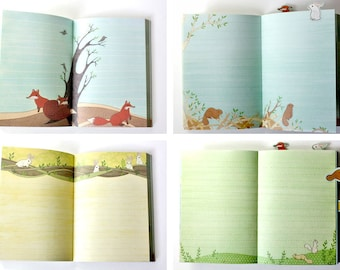 ANIMAL JOURNAL Fox Diary by boygirlparty - forest animal bound journal gift book notebook