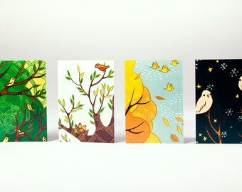 Blank Note Card Set - Bird Art by boygirlparty - Paper Goods Cards Easter Spring Notecards