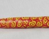 Yellow on Red Swirls size 3/2.1mm Crochet Hook