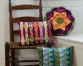 Pleated Pillow Trio PDF Sewing Pattern