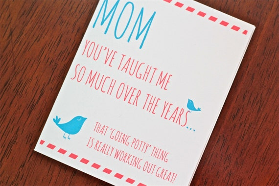 items similar to mother's day card, funny mother's day, mother's, Birthday card