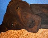 Labrador Folk Art  Painting